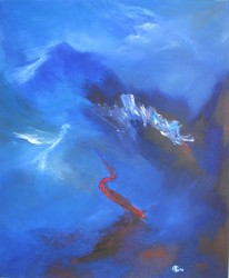 Ibis rouge  (2012) 65 x 54