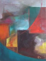 Remparts sur fond de brumes  (2012) 40 x 30